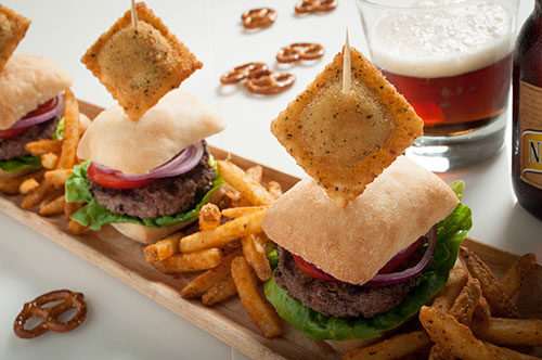 Sliders & Toasted Sausage Ravioli