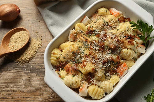 Three-Cheese Gnocchi Mac & Cheese with Lobster