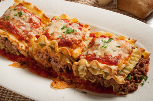 Meat Lovers Lasagna Rolls