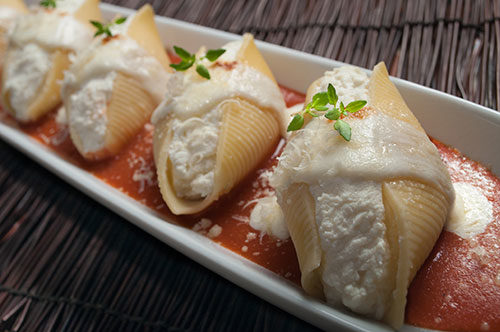 Classic Cheese Stuffed Shells with San Marzano Tomatoes