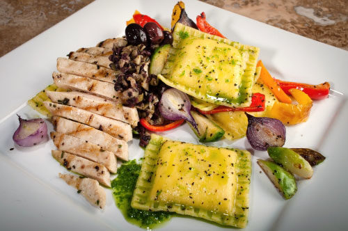 Parmigiano Reggiano with Grilled Chicken & Roasted Mediterranean Vegetables