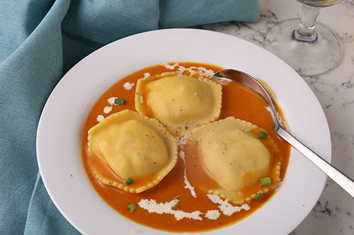 Lobster Ravioli Bisque
