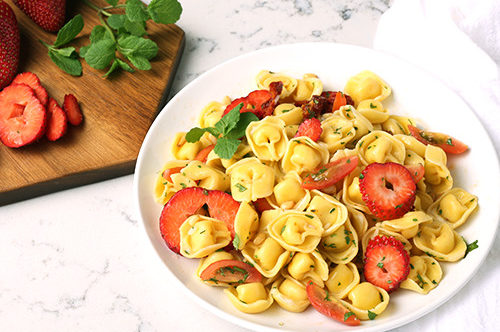 Tortellini Piccolini Pasta Salad with Mint & Strawberries