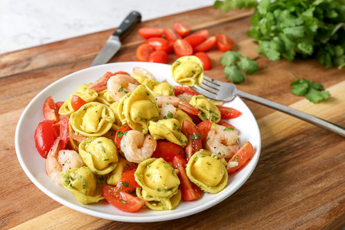 Caprese Tortellini Salad with Shrimp