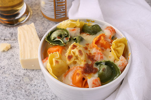 Tortellini Beer Cheese Lobster Mac