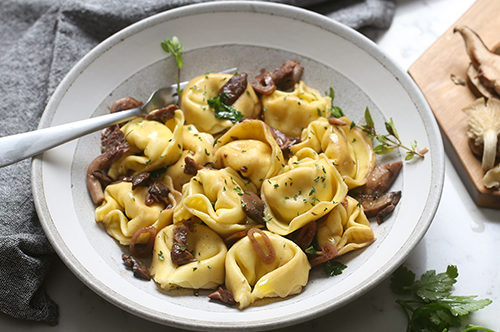 Cheese Tortelloni with Wild Mushroom Sauce