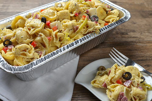 Cheese Tortelloni Pizza Pasta Salad